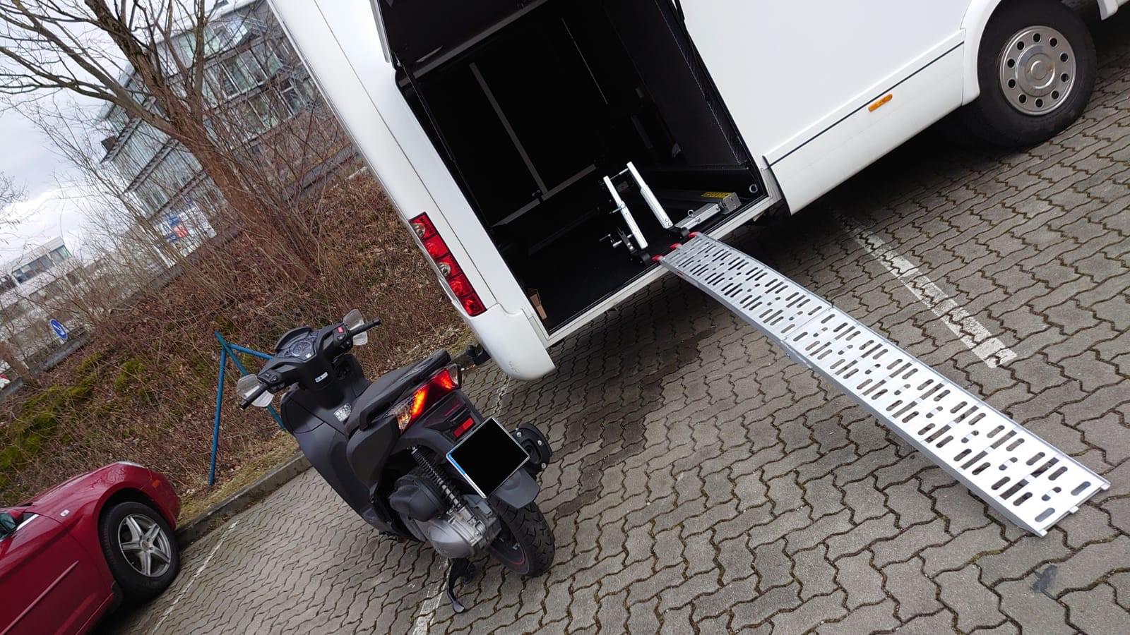 Halterung heckgarage roller wohnmobil Motorradträger und